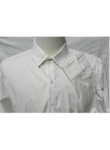 Soft Collar Embroidered Stretch Fabric Shirt